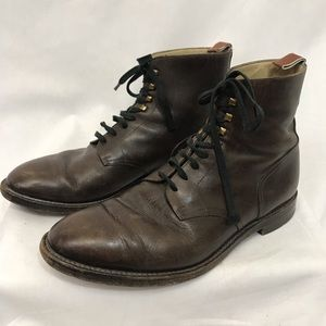 J. FENESTRIER Brown Leather Lace Up Boots
